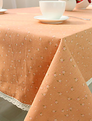 Square Toile Table Cloth , Cotton Blend Material Hotel Dining Table / Table Decoration