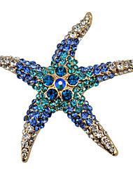 женская мода сплав / горный хрусталь броши шикарный булавка партия / ежедневно / вскользь форма морской звезды ювелирных аксессуаров 1шт