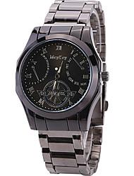 Masculino Relógio de Pulso Quartz / Aço Inoxidável Banda Legal / Casual Cinza marca