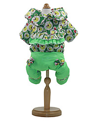 Dog Sweater Green Dog Clothes Spring/Fall Animal Keep Warm
