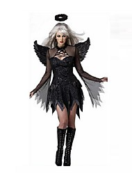 Sexy Black Angel Costumes Vampire Zombie Cosplay Black Ghost Bride Cosplay Costumes for Halloween Party Dress