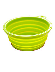 Dog Feeders Pet Bowls & Feeding Foldable Random Color Plastic