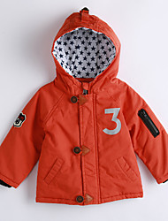 Boy Casual/Daily Solid Down & Cotton Padded,Cotton Winter / Fall Long Sleeve