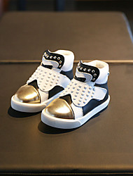 Jungen-Sneaker-Lässig-LederAndere Komfort-Silber Gold