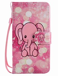 For LG K10 K7 Case Cover Pink Elephant Painted Lanyard PU Phone Case for NEXUS 5X Lss775 Xpower