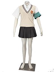 Inspiriert von Toaru Kagaku no Railgun Cosplay Anime Cosplay Kostüme Cosplay Kostüme einfarbigWeste / Shirt / Rock / Schleife / Mehre