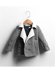 Boy Casual/Daily / Sports Solid Trench Coat,Cotton Winter Long Sleeve