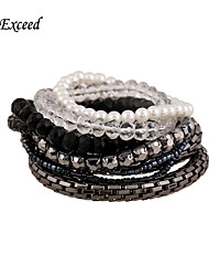 9pcs Each Set Brand Fashion Crystal  Seed beads Chain Stretch Bracelet For Christmas Gift BL152471