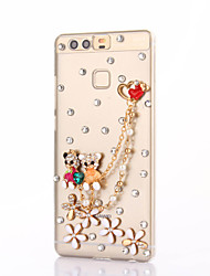 For Huawei P9 Plus Lite P8 Lite Rhinestone Case Back Cover Case Bear Hard PC Honor 8 7 6 6Plus 5C 5X 4X 4C 4A Mate8 7