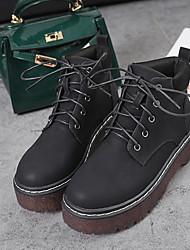 Women's Boots Fall Comfort Suede Casual Black / Dark Gray