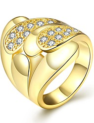 Ring AAA Cubic Zirconia Zircon Cubic Zirconia Alloy Gold Jewelry Casual 1pc