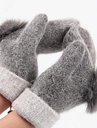 женщины шерсть длина пальцев запястье, твердый случайный зима