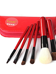 6 Contour Brush / Blush Brush / Lip Brush / Eyeliner Brush / Powder Brush / Foundation Brush Goat HairProfessional / Travel /