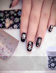 Christmas Snowflake Holographic Nail Foils Nail Art Transfer Sticker Paper