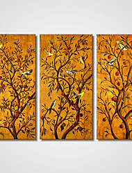 Singing Birds on The Tree Canvas Print Art  Modern Artworks for Home Decoration 35x70cmx3pcs Unframed