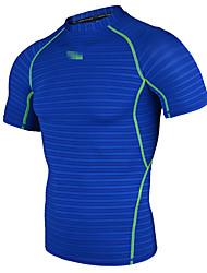 Corrida Camiseta Homens Manga Curta Respirável / Secagem Rápida / Confortável TeryleneCaça / Pesca / Exercicio e Fitness / Ciclismo/Moto