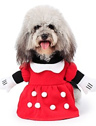 Pet Dog Clothes Set Coat Costume For Halloween Party Cosplay Playing Apparel