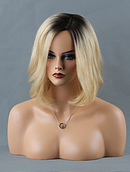 élégance en couches mi-longueur capless perruques onde naturelle perruques ombre de cheveux humains