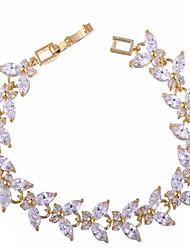 Bracelet Chaînes & Bracelets Zircon / Opale Anniversaire / Fiançailles / Mariage / Soirée / Quotidien / Décontracté Bijoux CadeauBlanc /