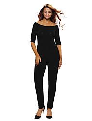 Women's Bardot Neckline Fashion Jumpsuit