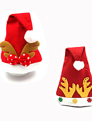 2Pcs DesignIs Random Christmas Decoration Gifts Role Ofing Christmas Tree Ornaments Christmas Gift Christmas Hat
