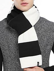 Men's Acrylic Rectangle,Casual Striped Fall Winter