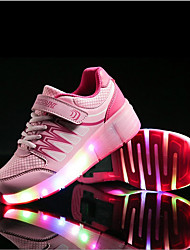 Fille-Extérieure / Décontracté / Sport-Bleu / Rose-Talon Plat-Others / Confort-Sneakers-Synthétique
