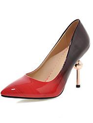 Women's Heels Spring Fall Leatherette Office & Career Casual Dress Stiletto Heel Black Purple Peach