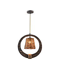 60W Chandelier ,  Country Others Feature for Designers Wood/BambooLiving Room / Bedroom / Dining Room