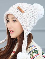 Women 'S Leather Superscript English Velvet Single - Cap Head Cap Wool Hat