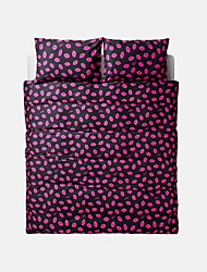Novelty Duvet Cover Sets 4 Piece Cotton Pattern Reactive Print Cotton Twin / Queen / King 1pc Duvet Cover / 2pcs Shams / 1pc Fitted Sheet