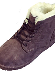 Women's Boots Fall Winter Comfort Fur Outdoor Casual Flat Heel Black Red Gray Coffee Beige Walking