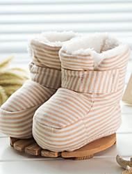 Kids' Girls' Baby Boots Comfort Cotton Winter Casual Comfort Flat Heel Beige Brown Flat