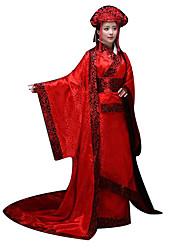 Costumes de Cosplay Fête / Célébration Déguisement Halloween Rouge Imprimé Collant/Combinaison / Coiffure Féminin Satin