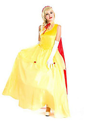Festival/Holiday Halloween Costumes Yellow & Orange Solid Skirt / Shawl / Headwear Halloween / Christmas / Carnival Female