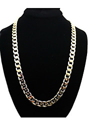 Necklace Jewelry Wedding / Party Euramerican Stainless Steel / Gold Plated Men 1pc Gift Gold / White