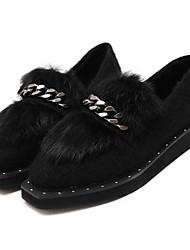 Damen-Loafers & Slip-Ons-Lässig-Andere TierhautOthers-Schwarz / Rot