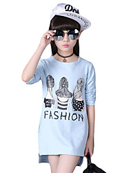 Girl Casual/Daily Solid Hoodie & Sweatshirt,Cotton Spring / Fall Long Sleeve Regular