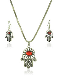 Jewelry 1 Necklace / 1 Pair of Earrings Crystal Halloween / Party / Daily / Casual 1set Women As Per Picture Wedding Gifts