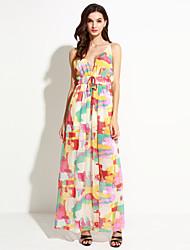Women's Vintage Boho Split Beach Halter Bandage Criss-Cross Slim Dress