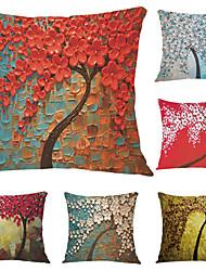 6 PC Terciopelo Funda de almohada,Estampados Detalle Decorativo