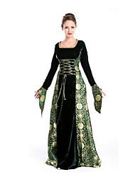 Fête / Célébration Déguisement Halloween Vert, jaune & noir Imprimé Jupe Halloween / Noël / Carnaval Féminin