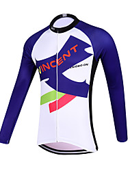 Sports QKI Vincent Cycling Jersey Unisex Long Sleeve Bike Breathable / Quick Dry / Anatomic Design / Front Zipper / Sweat-wicking Jersey Polyester