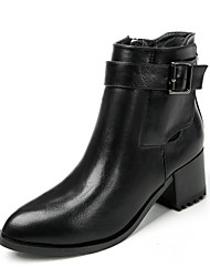 Women's Boots Comfort Leatherette Casual Black / Brown