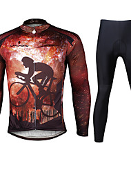 Ilpaladin Sport Men Long Sleeve Cycling Jerseys Suit CT722