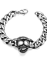 Armbänder Ketten- & Glieder-Armbänder Edelstahl Halloween Schmuck Geschenk Silber,1 Stück