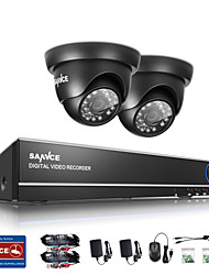 SANNCE 1.0MP 720P 4CH HD 4 in1 TVI H.264 DVR In/Outdoor CCTV Security Camera System