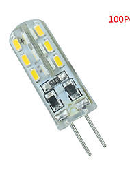 100 Pcs G4 24 led Sme3014 DC12 v 350 lm Warm White Cold White Double Pin Waterproof Lamp Other