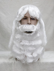 Christmas party Santa short beard white wig