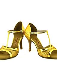 Obyčejné-Dámské-Taneční boty-Latina / Salsa-Třpytky-Na zakázku-Černá / Stříbrná / Zlatá